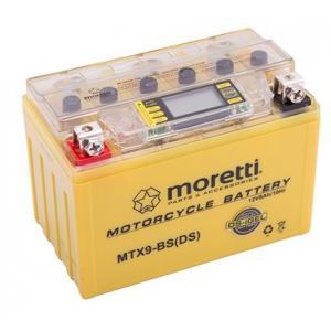 Bezúdržbová gélová batéria Moretti MTX9-BS, 12 V, 8 Ah s meračom napätia