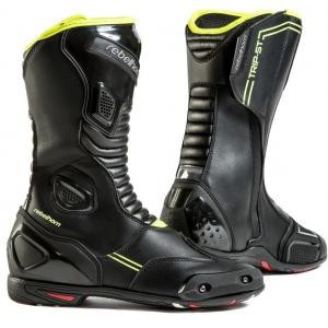 Vysoké čižmy na motocykel Rebelhorn Trip ST CE čierno-fluorescenčno-žlté