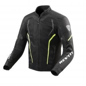 Bunda na motocykel Revit GT-R Air 2 čierno-fluorescenčno-žltá výpredaj