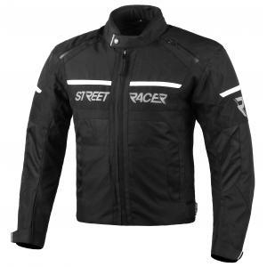 Bunda na motocykel Street Racer Definit čierno-biela