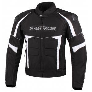 Bunda na motocykel Street Racer Spark čierno-biela