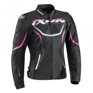 Dámska bunda na motocykel IXON Sprinter čierno-ružová