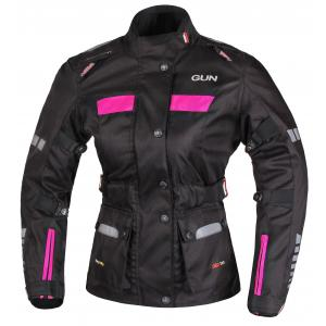 Dámska bunda na motocykel RSA Gun čierno-ružová