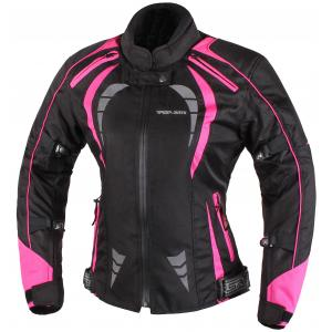 Dámska bunda na motocykel RSA Queen čierno-ružová