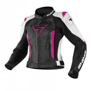 Dámska bunda na motocykel Shima Miura čierno-bielo-ružová výpredaj