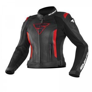 Dámska bunda na motocykel Shima Miura čierno-červená výpredaj