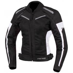 Dámska bunda na motocykel Street Racer Betty čierno-biela