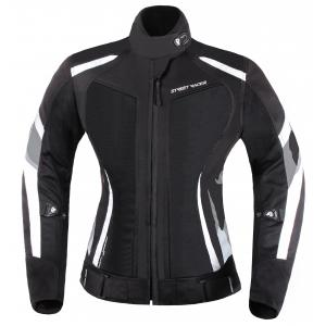 Dámska bunda na motocykel Street Racer Elite čierno-biela