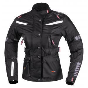 Dámska trojvrstvová bunda na motocykel RSA Gun čierno-biela