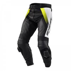 Nohavice na motocykel Shima STR čierno-bielo-fluorescenčno žlté výpredaj