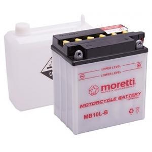 Konvenčná motocyklová batéria Moretti MB10L-B, 12 V, 11 Ah