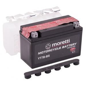 Konvenčná motocyklová batéria Moretti MT7B-BS, 12 V, 6,5 Ah