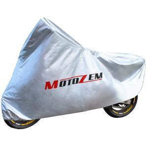 Plachta na motocykel Motozem - strieborná