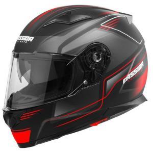 Prilba na motocykel Cassida Apex Fusion čierno-fluorescenčno červená