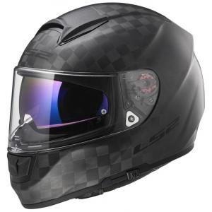 Prilba na motocykel LS2 FF397 Vector Solid Carbon čierna matná výpredaj