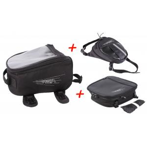 SET: RSA tankvak + taštička na stehno + taška na sedlo