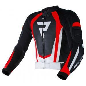 Bunda na motocykel Rebelhorn Piston II PRO čierno-bielo-fluorescenčno červená výpredaj
