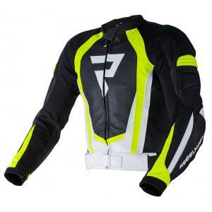 Bunda na motocykel Rebelhorn Piston II PRO čierno-bielo-fluorescenčno žltá výpredaj