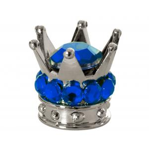 Čiapočky na ventiLY Oxford Crown strieborno-modré