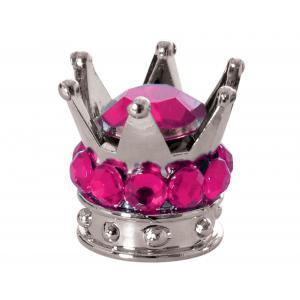 Čiapočky na ventily Oxford Crown strieborno-ružové