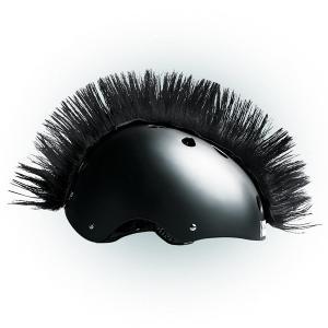 Číro na prilbu Wiggystyle Mohawk čierne