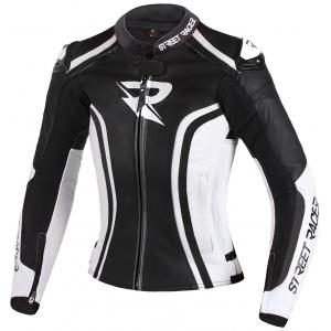 Dámska bunda na motocykel Street Racer Electra čierno-biela