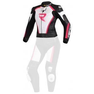 Dámska bunda Street Racer Kiara čierno-bielo-fluorescenčno ružová