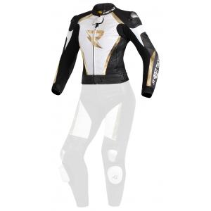 Dámska bunda Street Racer Kiara čierno-bielo-zlatá