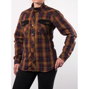 Dámska košeľa na motocykel BROGER Alaska karamelová