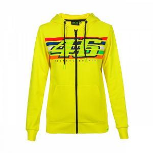 Dámska mikina VR46 Valentino Rossi STRIPES Fleece žltá