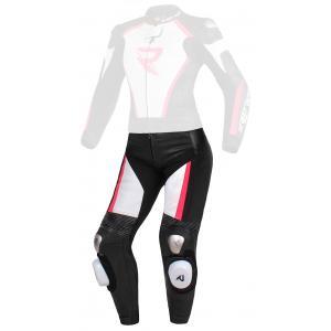 Dámske nohavice Street Racer Kiara čierno-bielo-fluorescenčno ružové