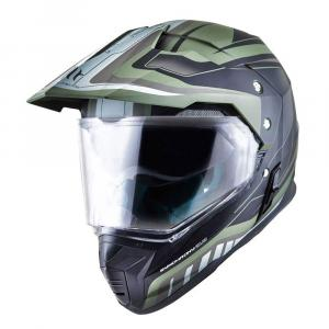 Enduro prilba MT Synchrony Duosport SV Tourer zeleno-čierna matná