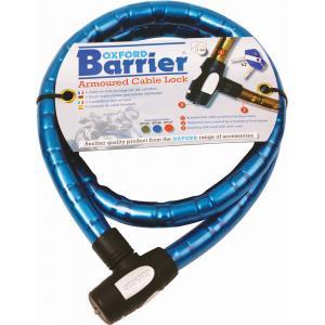 Káblový zámok Oxford Barrier modrý