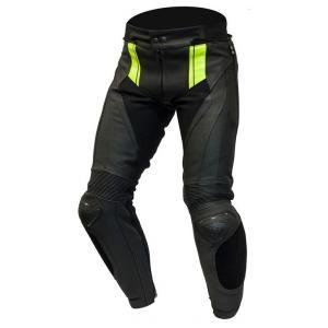 Nohavice na motocykel Ozone Volt čierno-fluorescenčno žlté výpredaj