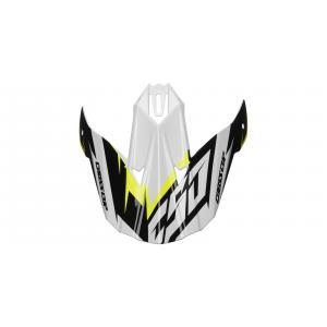 Šilt pre prilbu Cassida Cross Cup Two čierno-bielo-šedo-fluorescenčno žltý