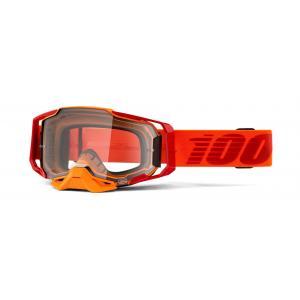 Motokrosové okuliare 100 % ARMEGA Litkit oranžové (číre plexisklo)