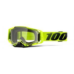 Motokrosové okuliare 100 % ARMEGA Nuclear Citrus žlté (číre plexisklo)