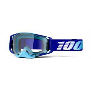 Motokrosové okuliare 100 % ARMEGA Royal modré (číre plexisklo)