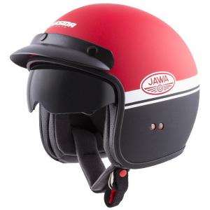 Otvorená prilba na motocykel Cassida Oxygen Jawa OHC červeno-čierno-biela