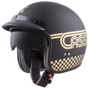 Otvorená prilba na motocykel Cassida Oxygen Rondo čierno-zlatá