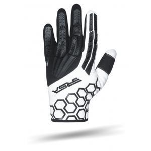 Rukavice na motocykel RSA MX EVO čierno-biele