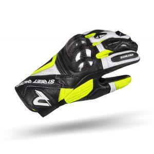 Rukavice na motocykel Street Racer XTR čierno-bielo-fluo žlté