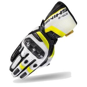 Rukavice Shima STR-2 čierno-bielo-fluorescenčno žlté