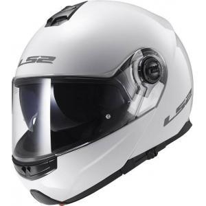Odklápacia prilba na motocykel LS2 FF325 Strobe biela