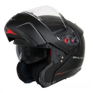 Odklápacia prilba na motocykel MT Atom čierna matná