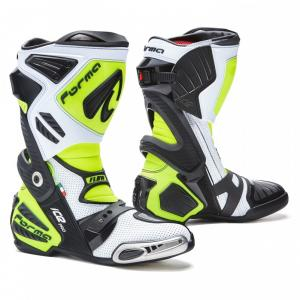 Vysoké čižmy na motocykel Forma Ice Pro Flow bielo-čierno-fluorescenčno žlté
