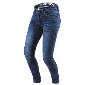 Dámske jeansy na motocykel Street Racer Daily modré