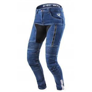 Dámske jeansy na motocykel Street Racer Stretch modré výpredaj