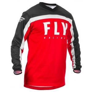 Motokrosový dres FLY Racing F-16 2020 červeno-čierno-biely
