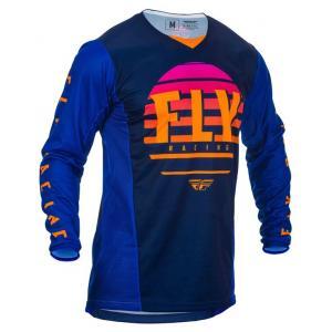 Motokrosový dres FLY Racing Kinetic K220 2020 čierno-modro-oranžový